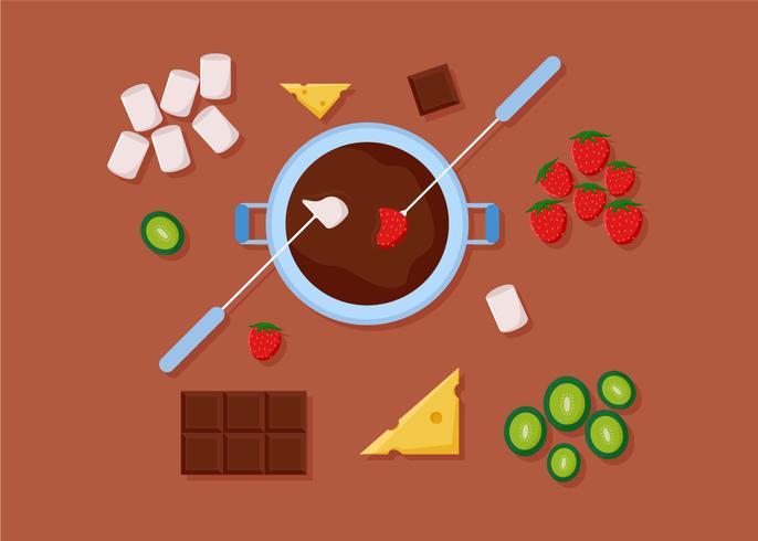Vettori di cioccolato fonduta gratis