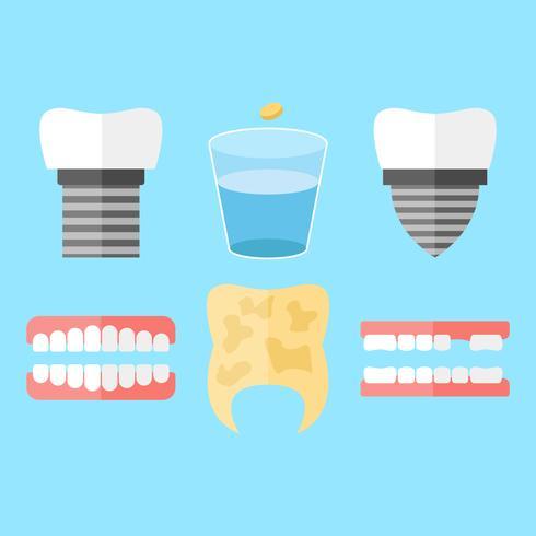 Vettori unici denti falsi