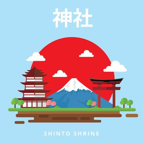 Vettore gratis santuario shintoista