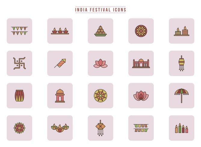 Vettori di Festival dell'India gratuiti