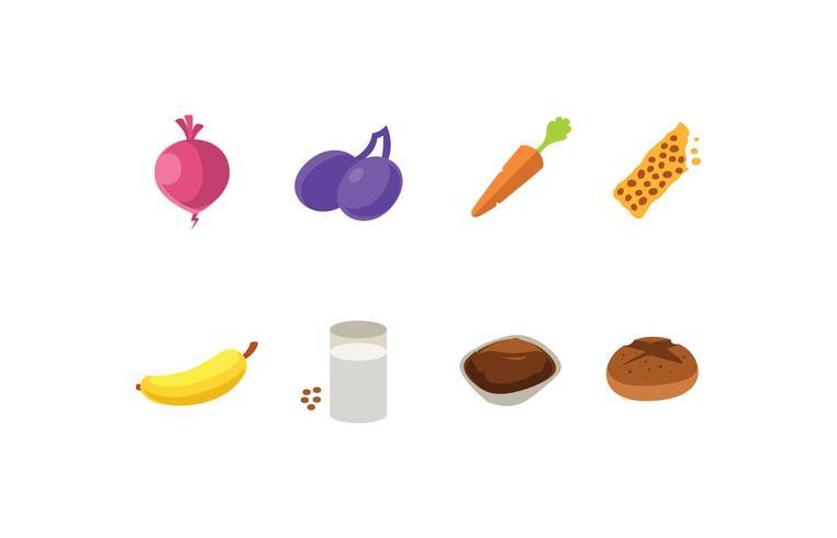 Set di icone di fonti di zucchero vettore