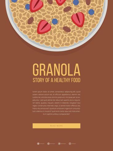 Modello pubblicitario mobile Granola vettore