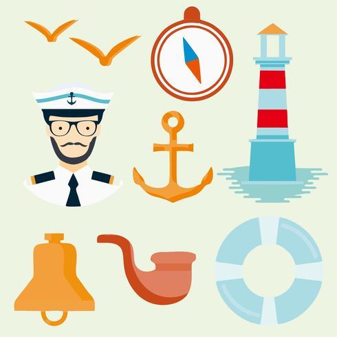 Sailor Seaman Icons Vector gratuito