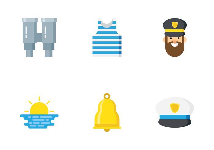 icona piatta marinaio vettore