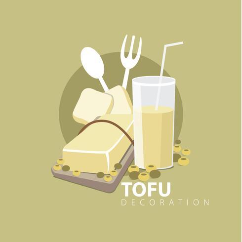 Decorazione di tofu vettore