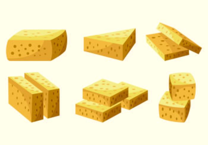 Set di vettore di tofu