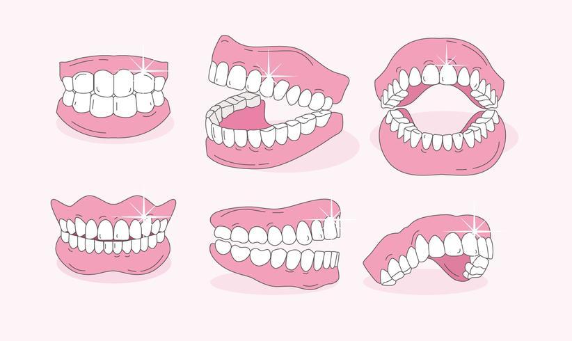 Vettore di denti finti