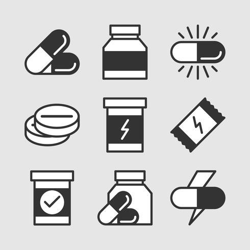 Icone di integratori vettore