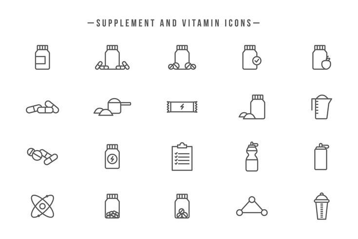 Vettori gratuiti di supplementi e vitamine