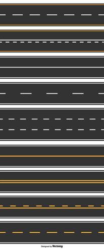 Insieme di vettore di 9 strade principali