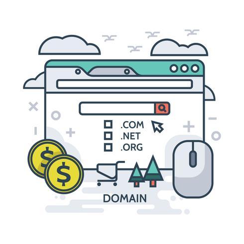 Illustrazione dominio vettore