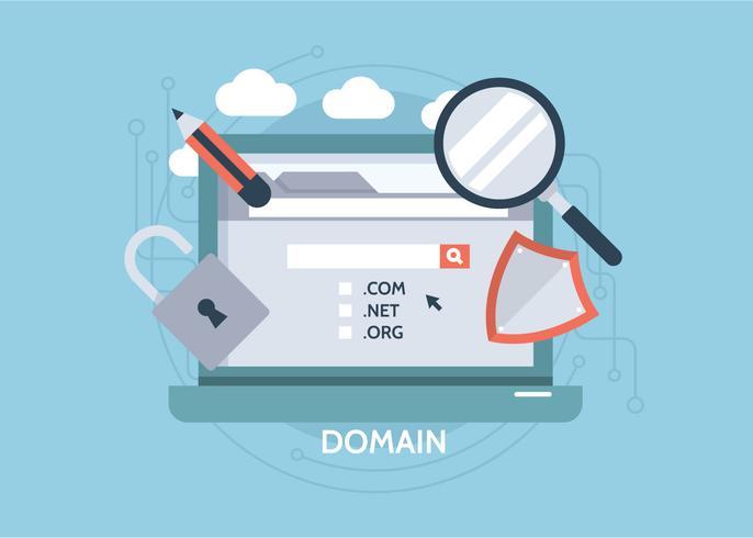 Illustrazione piatta del dominio vettore