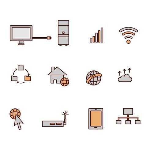Vettore libero delle icone di Internet
