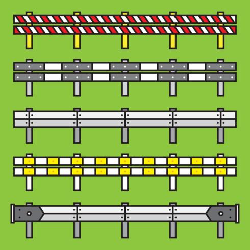 Set vettoriale di guardrail