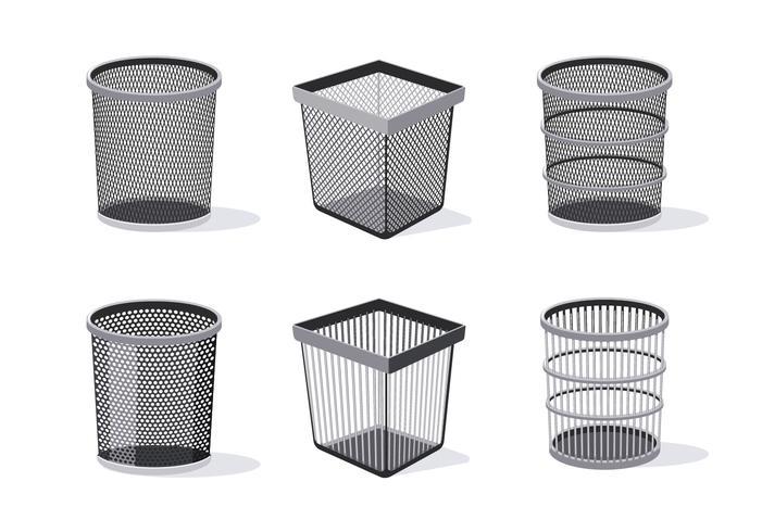 Illustrazione di raccolta cestino dei rifiuti vettore
