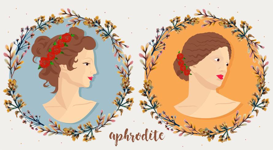 disegno vettoriale di Afrodite