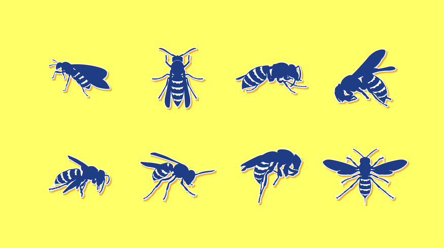 Vettore libero dell'autoadesivo dei calabroni