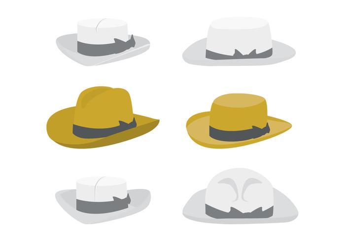 Cappello Panama di cartone animato vettore
