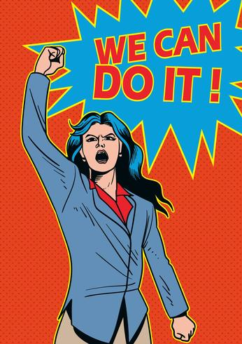 Personaggi di Superwoman d'affari vettore