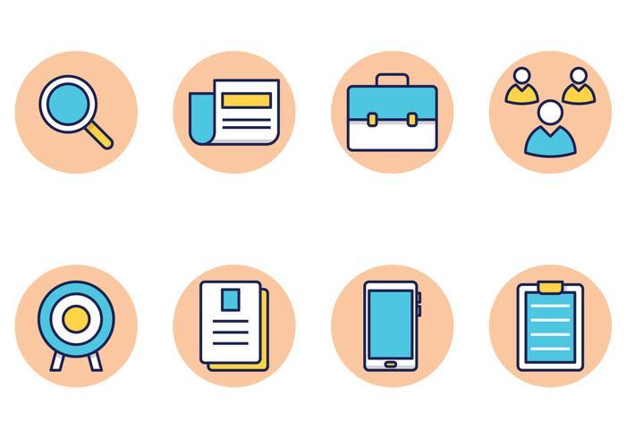 Set di icone di ricerca di lavoro vettore