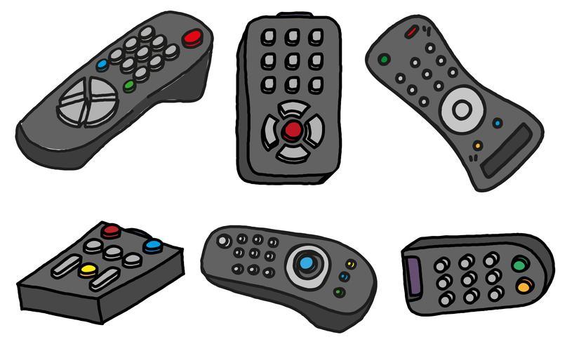 set remoto tv vettoriale