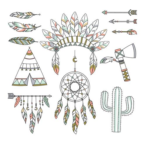 Stile tribale decorativo Boho vettore
