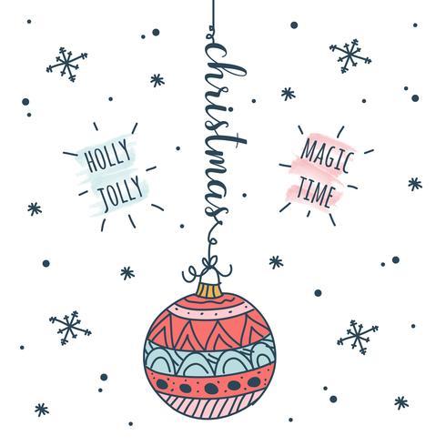 Doodle sfondo di Natale vettore