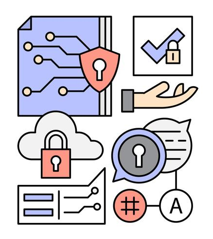 Elementi di rete dati gratuiti vettore