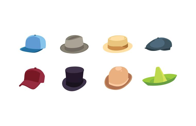 collezione di icone del cappello vettore