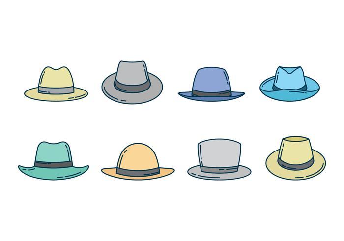 Collezione gratuita di cappello da cowboy vettore