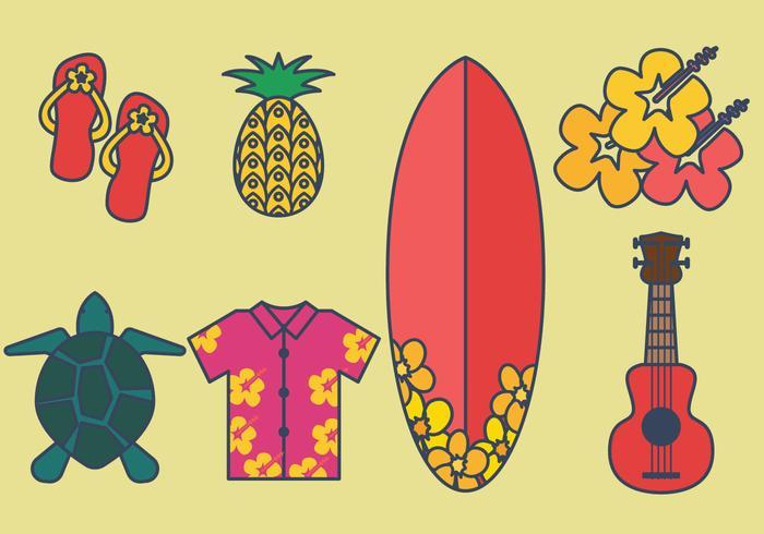 Set vettoriale di Hawaii