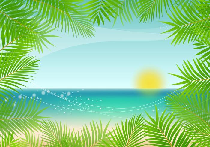 vettore di sfondo di palma
