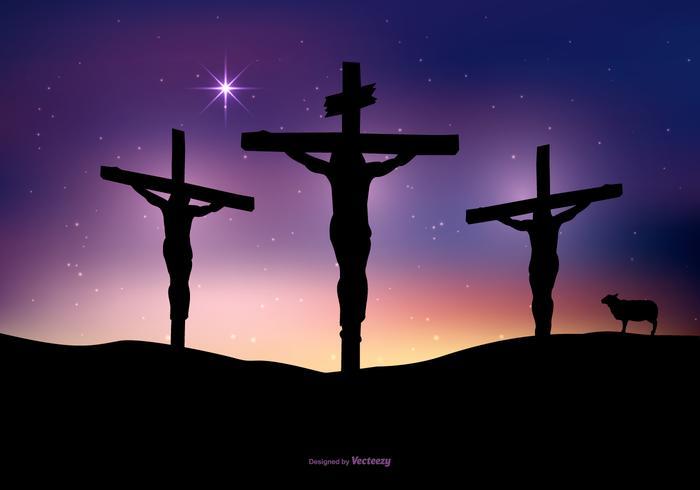 illustrazione di crocifissione di Gesù vettore