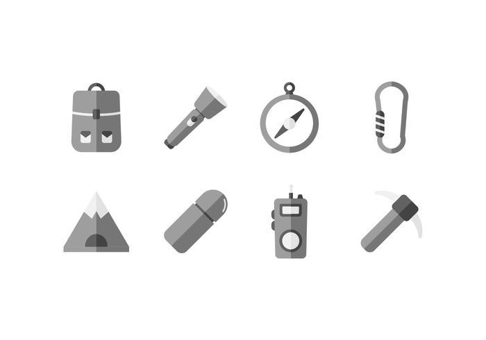 icona di strumenti di esploratore di caverna vettore