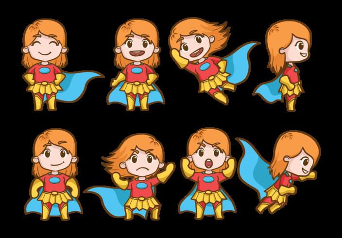 Vettore dei cartoni animati della superdonna