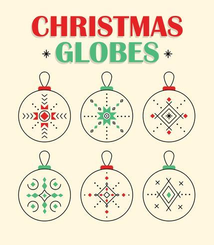 Vettore gratuito di globi di Natale