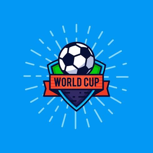 Stemma del logo della coppa del mondo vettore