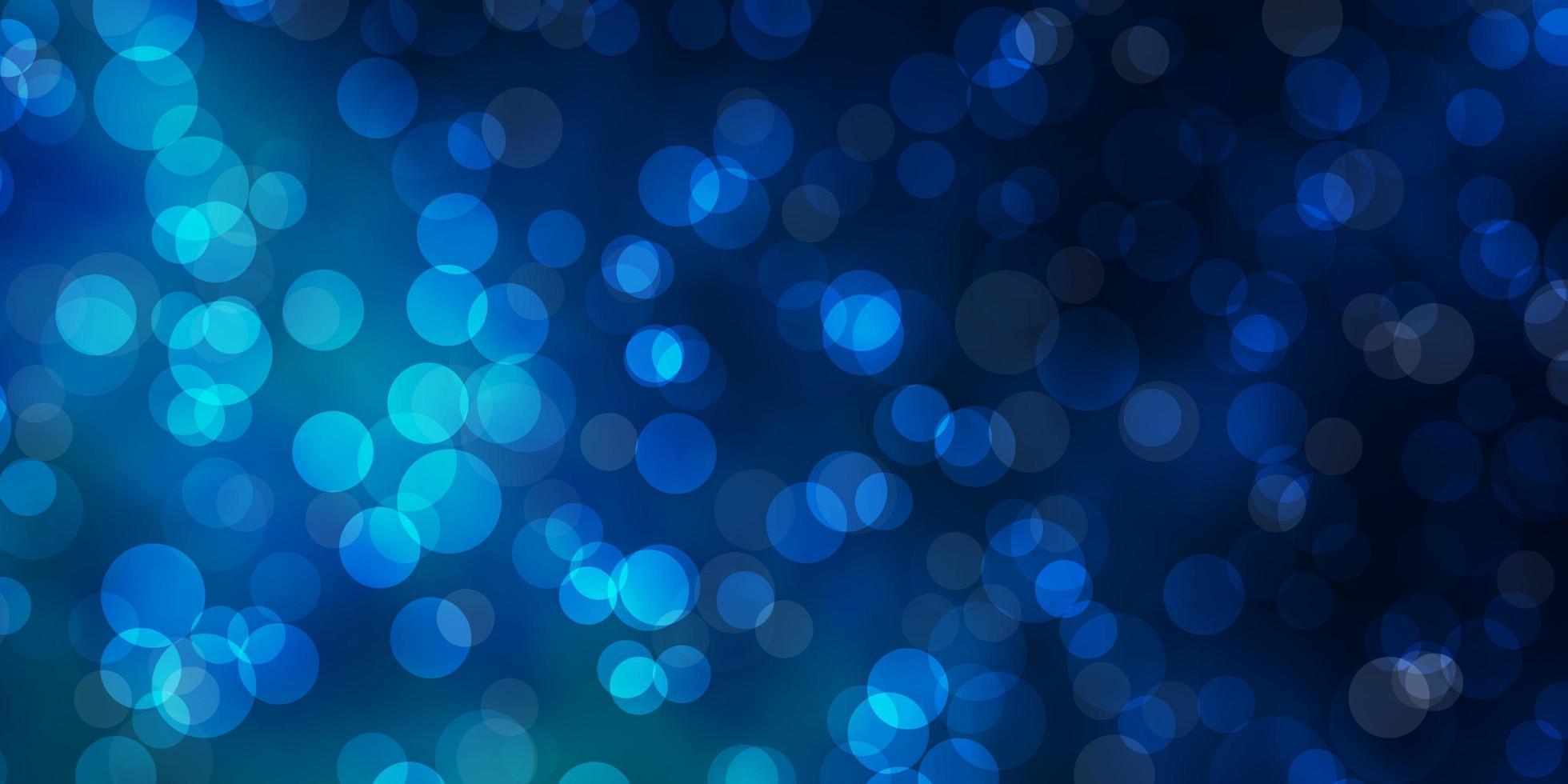 modello blu scuro con sfere. vettore