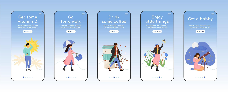 app mobile per la prevenzione della depressione stagionale vettore