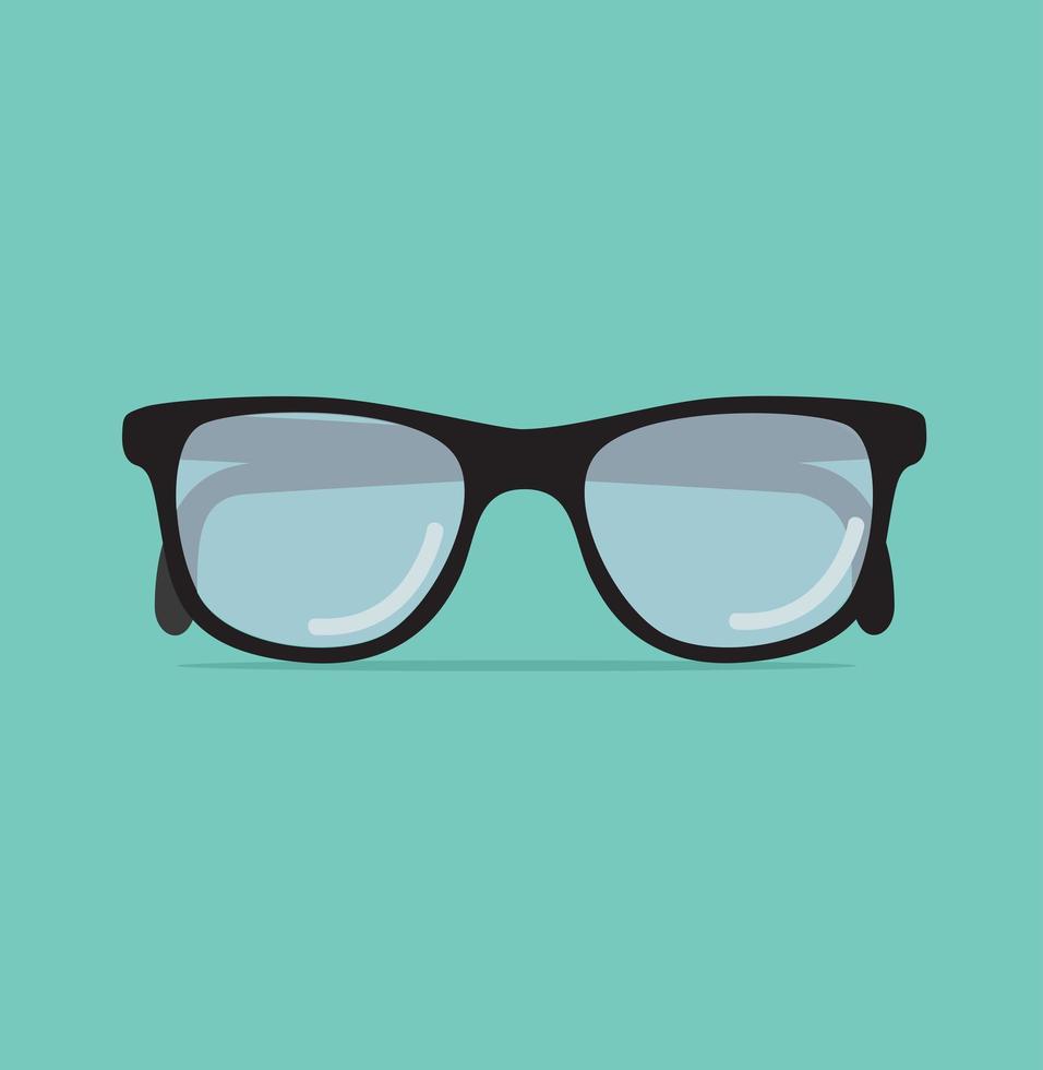 occhiali da vista alla moda su uno sfondo verde vettore