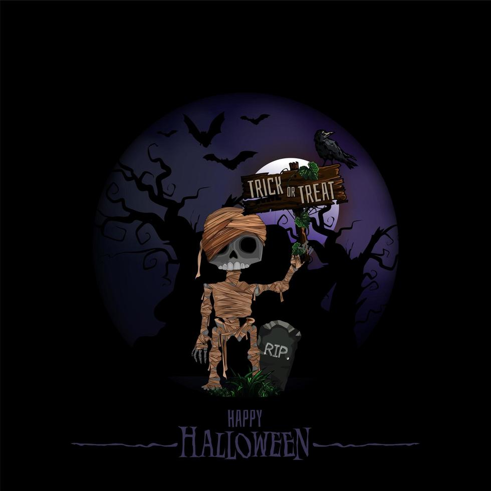sfondi di Halloween con casa stregata vettore