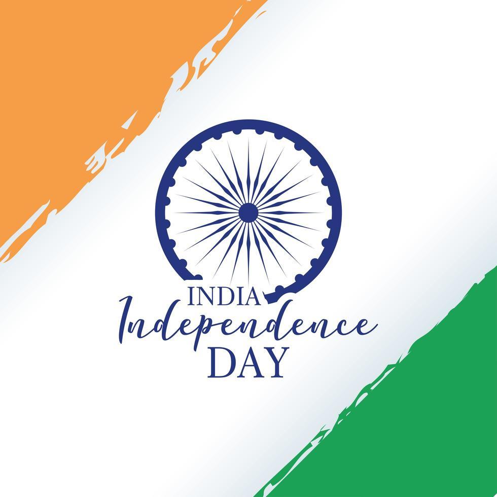 felice celebrazione del giorno dell'indipendenza dell'india vettore