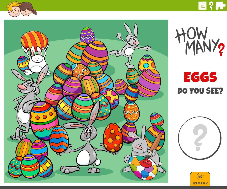 quante uova di Pasqua compito educativo per i bambini vettore