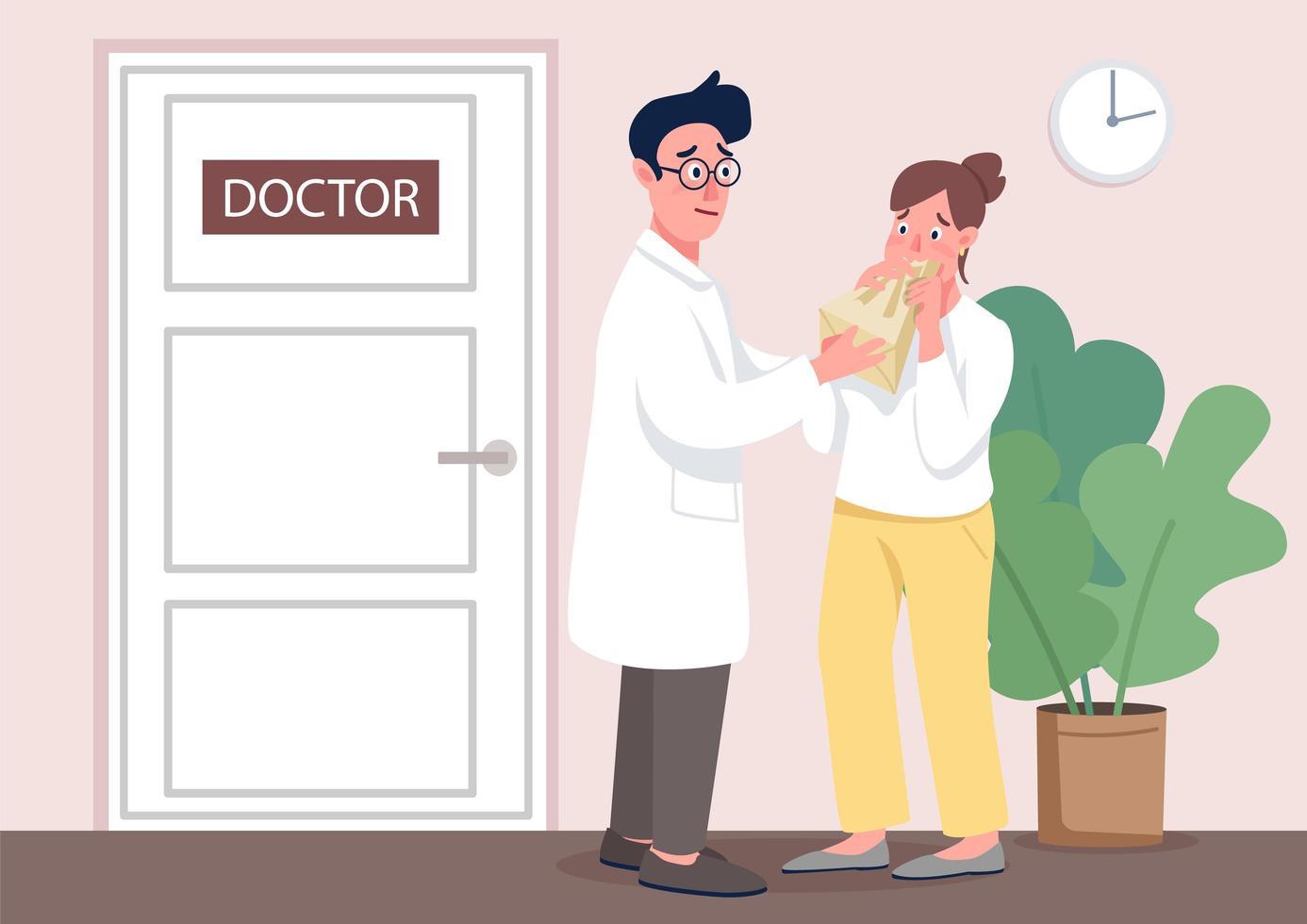 medico con il paziente vettore