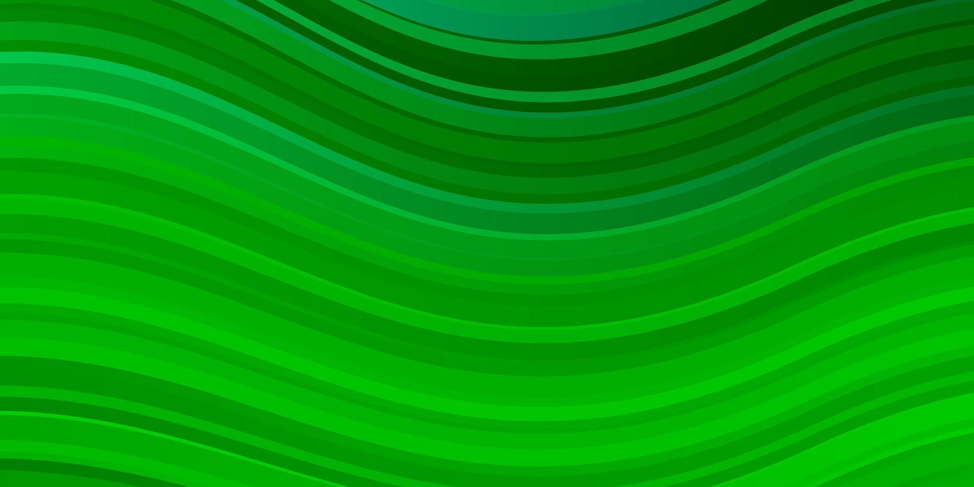sfondo verde chiaro con linee curve. vettore