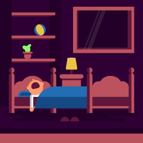 Bedtime Sleeping Vector Illustration