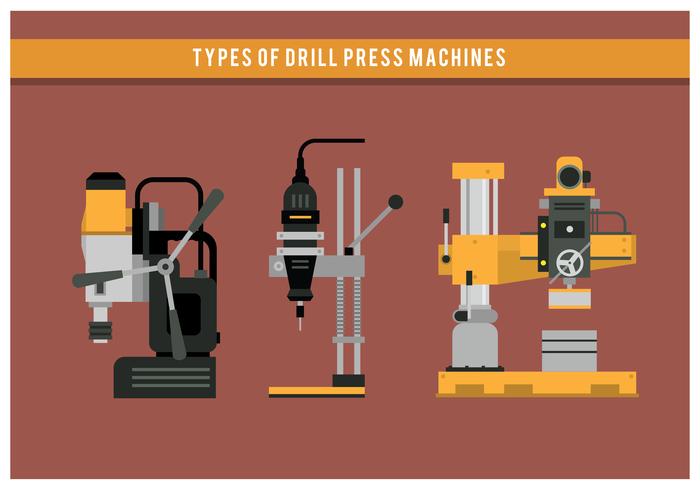 vettore di tipi della macchina della stampa di trapano