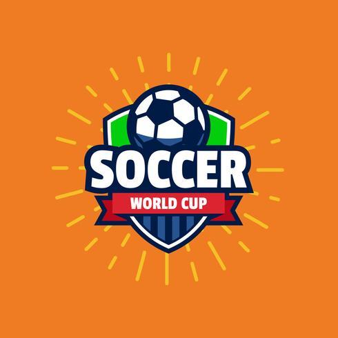 Distintivo del logo di calcio della Coppa del mondo vettore