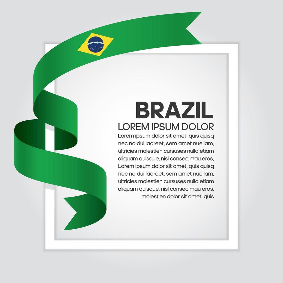 nastro bandiera brasiliana onda astratta vettore