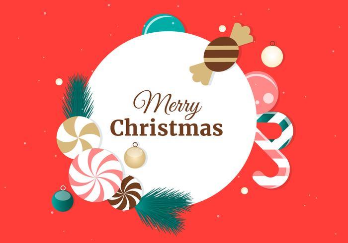 Elementi vettoriali gratis Natale piatto